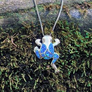 Australian Opal Frog Necklace